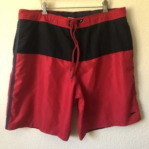 e2751226cb Speedo Swimsuit Trunks board Shorts XL 40 Red EUC